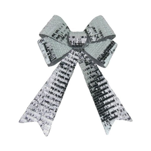 Davies Products Sequin Bow - 30 x 43 Silver